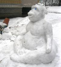 Снежные скульптуры своими руками для детского сада. Делаем фигуры из снега своими руками избранное. Фигуры из снега своими руками для школы